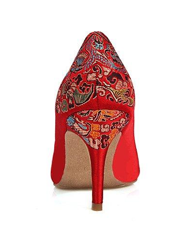 us8 sandalias Tacones Ggx rojo Cn39 tacones Y Zapatos De Uk6 Red Fiesta Eu39 Noche Abierta Punta boda Boda mujer SwSqZ4