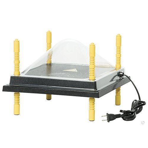 RentACoop Chick Brooder Heating Plate and Cover Kit 30cm x 30cm - A Safe Alternative to the Heat Bulb Lamp 540226