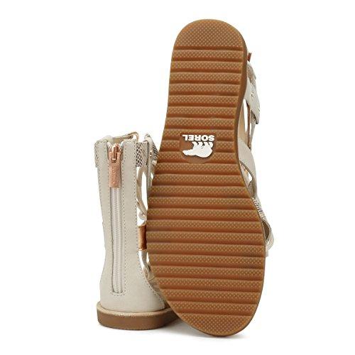Sorel Womens Ella Lace-Up Leather Sandals Natural 2OkYi4x