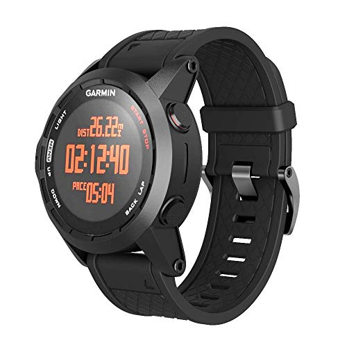 ANCOOL Compatible with Fenix 2 Bands Soft Silicone Watch Bands Replacement for Fenix 2 Smartwatch(Black)