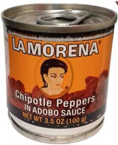 La Morena Chipotle Peppers in Adobo Sauce 100g x 10