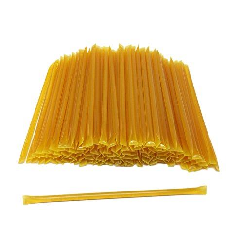 (100 Count Honey Sticks (Natural Lemon) No Artificial Colors - BPA Free Straw- USA Honey - 6.75
