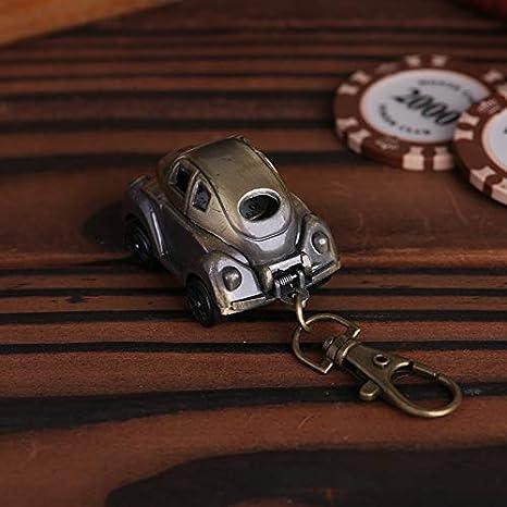 WEILIVE Mini Forma de Coche Reloj de Bolsillo Llavero Reloj ...