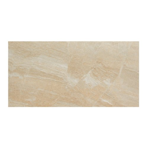 Samson 1044426 Anthology Polished Floor Tile, 12X24-Inch, Beige, 7-Pack