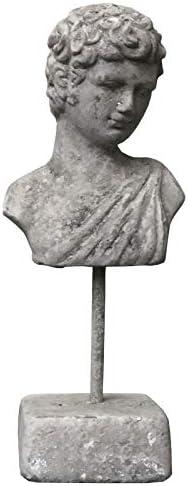 LORIGINALE DECO Statues Bustes T/ête Homme et Femme en Terre Cuite Patin/é Ancien