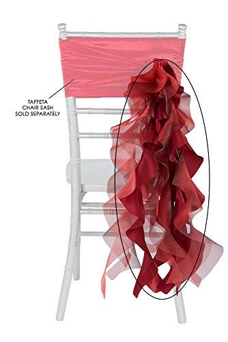 (Curly Willow Chair Sash Material: Taffeta & Organza Approx. 29