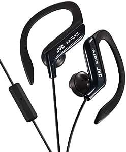 JVC Ear Clip Wired Headphone, White/Black - HA-EBR25