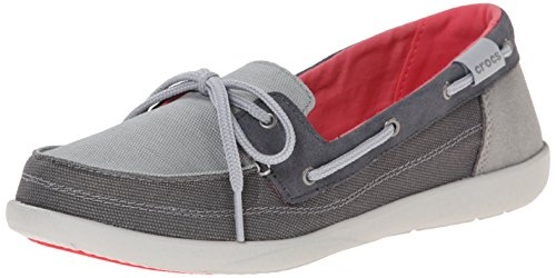 W Women's Shoe Walu Light Grey Boat Crocs Graphite qEORw7df