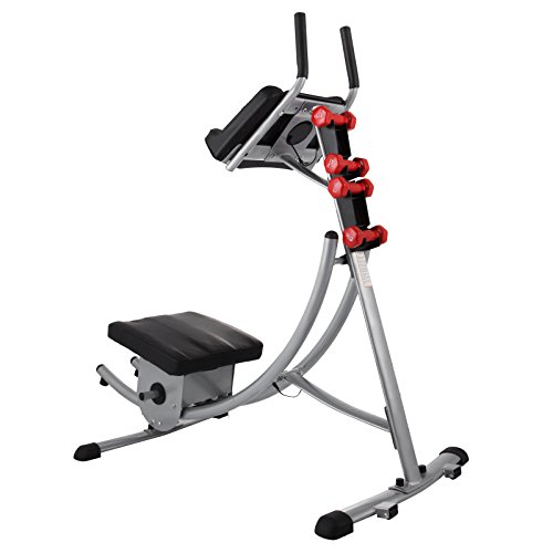 Popsport Abdomen Machine 330LBS Abdominal Coaster Abdomen Exercise Equipment with Adjustable Seat for Abdominal Muscle Training (Ab Coaster with 4 Dumbbells) by Popsport (Image #4)