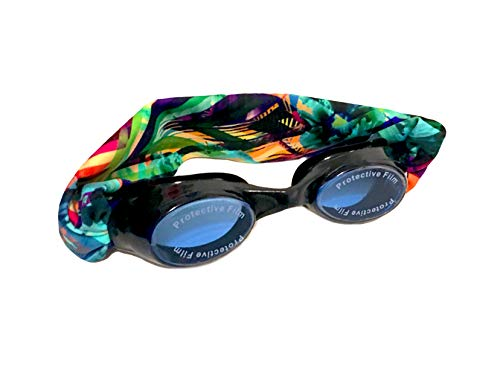 Splash Tahiti Swim Goggles – Comfortable, Fashionable, Fun – Fits Kids & Adults – Won't Pull Your Hair – Easy to Use – High Visibility Anti-Fog Lenses – Patent Pending