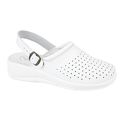 San Malo - Zuecos modelo Swivel para mujer Blanco