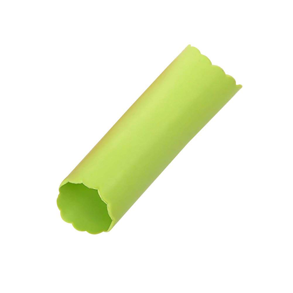 27-5 Garlic Peeler Silicone Easy Roll Tube Useful Garlic Odorfree Kitchen Tool Green by Add On Accessories