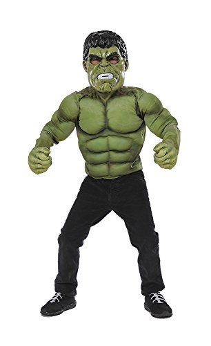 Rubie's Boys Hulk Super Costume Top Set, Green, One Size