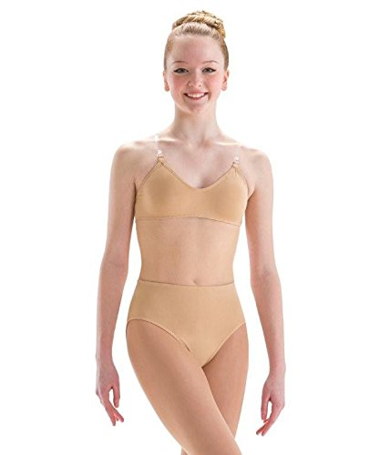 9a6c96894 Motionwear Underwear Illusion Mesh Midriff Convertible Clear Strap Leotard