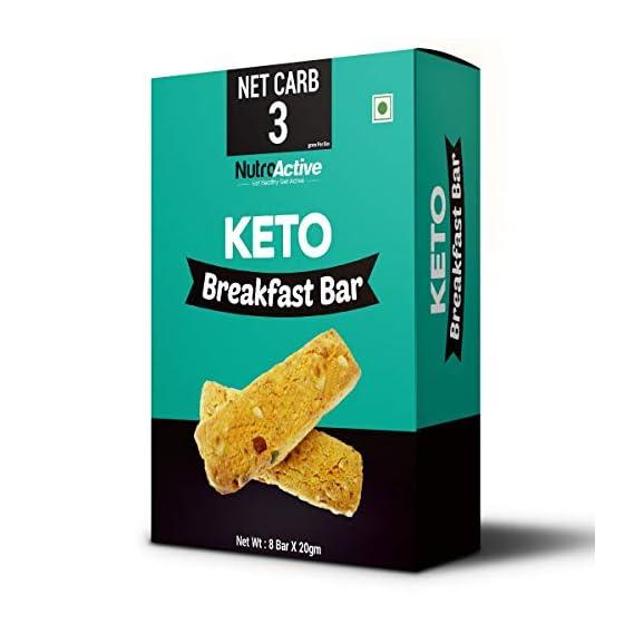 NutroActive Keto Breakfast Bar Zero Sugar Gluten Free 180 g