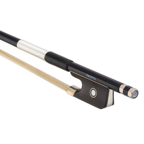 Presto Carbon Fiber Viola Bow Black 3/4 Size Pre-8802