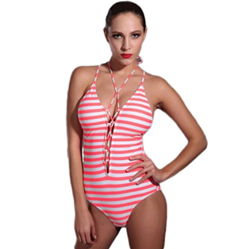 Traje de baño de las señoras Traje de baño triángulo siameses Bikini Pink