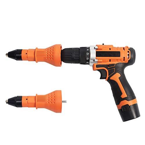 (Sacow Electric Rivet Nut Gun Adaptor Insert Cordless Power Drill Tool Kit)