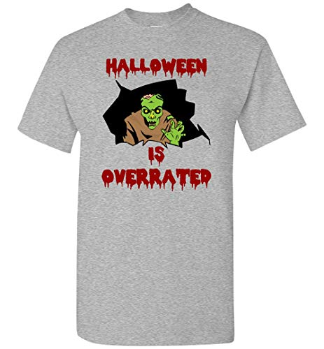 (HALLOWEEN IS OVERRATED Monster T-Shirt Funny Unisex Tshirts for Men and)