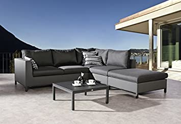 Amazon.de: Loungegarnitur Loungegruppe Gartenlounge Gartensofa ...