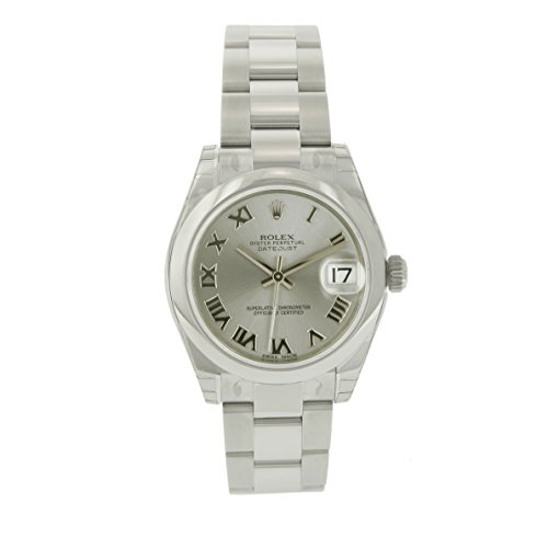 Rolex Lady-DateJust Stainless Steel Rhodium Dial with Smooth Bezel-Oyster band 31 mm