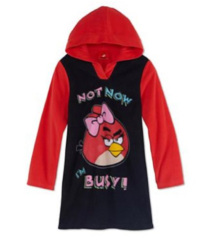 Angry Birds Hooded Microfleece Nightgown