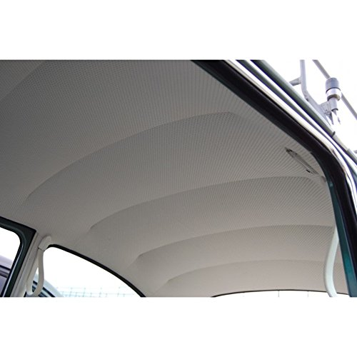 Perforated Headliner - HEADLINER, 1968-78 VOLKSWAGEN BEETLE BUG TYPE 1 SEDAN, OFF-WHITE PERFORATED VINYL
