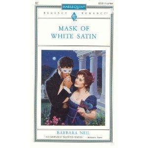 Mask Of White Satin - Satin Harlequin Mask