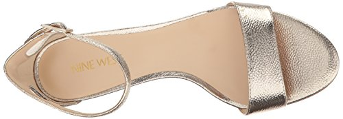Gold Leisa West Nine Sandal Metallic Natural Heeled Women's Metallic Medium qBn1xOv