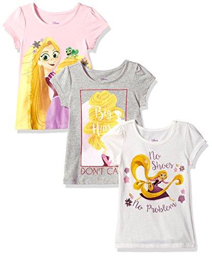 Disney Little Girl's 3 PC Pack Rapunzel SS Tees Baby Costume.