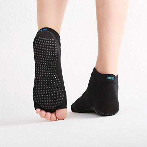 TOEZ - Now Available - Toeless Grip Non-slip Yoga Socks for Yoga, Pilates, Barre, Gymnastics, Tumbling, Martial Arts and Fitness Socks for Women & Men.