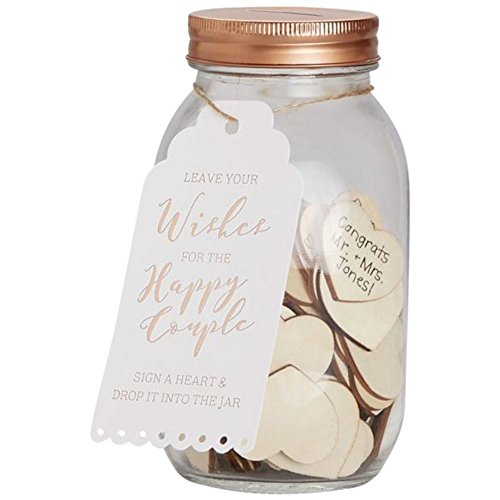(Wishing Jar Guestbook Style BB243, Brown)