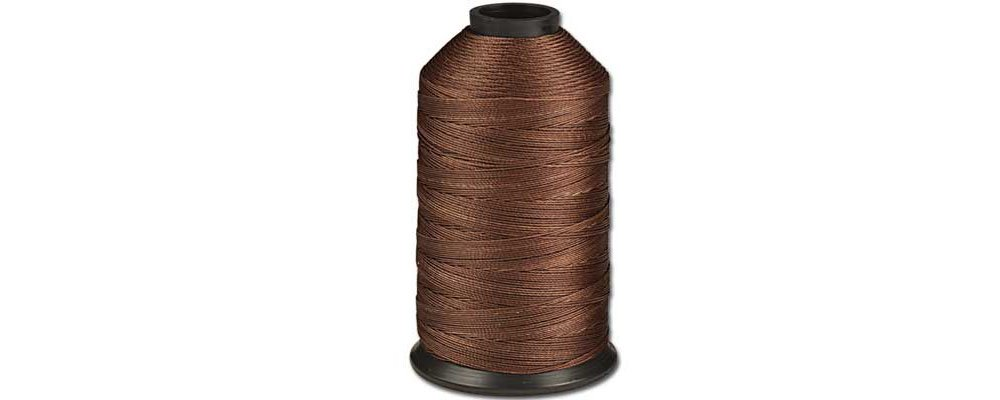 Tandy Leather Polyester Machine Thread #346 Heavy 490 yds. (448 m) Brown 3958-25