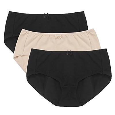 Hesta Women's Organic Cotton Period Menstrual Sanitary Protective Panties Underwear / 3Pack