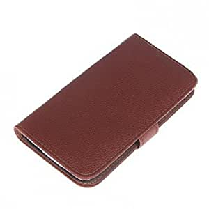 QYF Samsung S5 I9600 compatible Solid Color/Special Design PU Leather Full Body Cases , Black