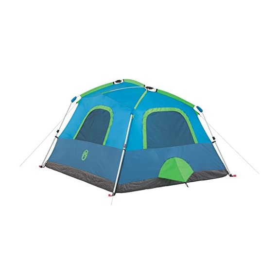 Coleman Camping Instant Signal Mountain Tent 2 Weather Tec system - patented welded floors and Inverted seams help keep water out Instant setup in about 60 seconds. Pre-attached poles for quicker, simpler setup - just extend and secure Integrated rainfly doesn't require separate assembly