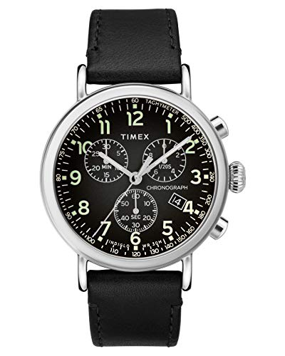 Timex Standard Chronograph 41 mm Black Dial Watch TW2T21100