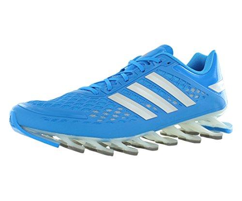 Adidas Hombre Springblade de frecuencia funcionando Zapatos - Running White / negro / blanco (6,5) Solar Blue/Metallic Silver/Black