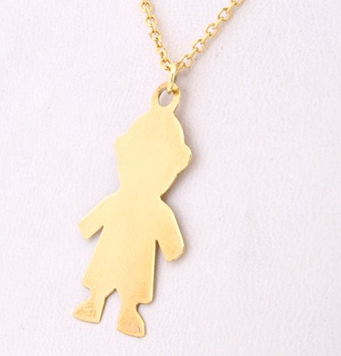 Yellow Gold Dora - 14K Yellow Gold Boy Doll Charm