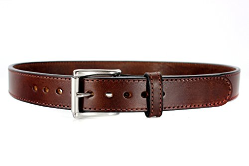 The Ultimate Belt - Daltech Force Bullbelt Gun Belt Steel Core - Ultimate Thickness - CCW - Concealed Carry USA - No Fillers - 100% Full Grain Leather (Brown, 44) 1014DW-36