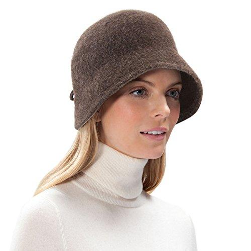 Eric Javits Luxury Designer Women's Fashion Headwear Hat - Gloria - Brown by Eric Javits