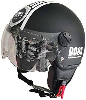 DOOA Casco Demi Jet CS16D Nero//Bianco-Black Matt//White Fashion helmet L