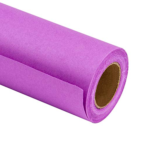 (RUSPEPA Purple Kraft Wrapping Paper - 81.5 Sq Ft Heavyweight Paper for Wedding,Birthday, Shower, Congrats, and Holiday Gifts - 30Inch X 32.8Feet Per Roll)