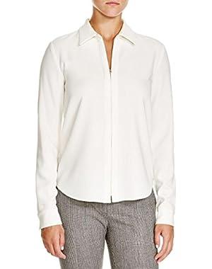 Theory Womens Matte Jersey Long Sleeves 1/4 Zip Jacket