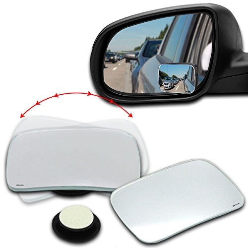 Zento Deals 2 Packs of Square Rearview Blind Spot Mirrors Stick-On and Adjustable to 360 Degrees Rotation Functions for All - Glasses My In The I Change Lenses Can