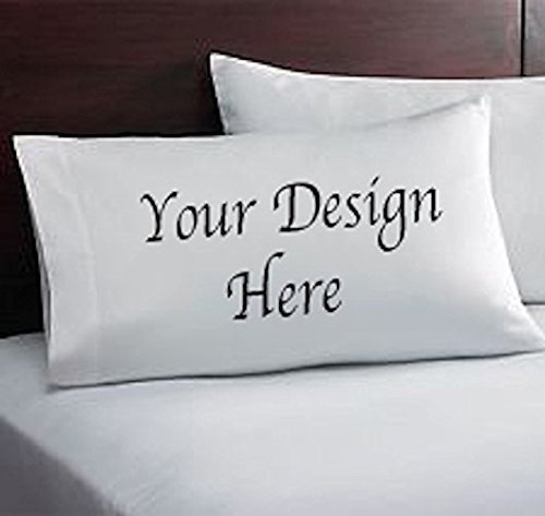 Customized Pillow Case with words embroidered, your choice of color, font, and thread color. -
