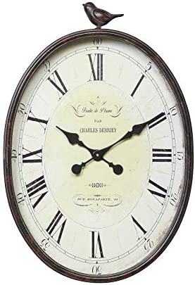Oval Metal Wall Clock