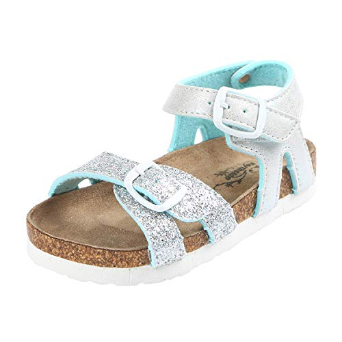Northside Girls' Maisie Sandal Turquoise/Silver 1 M US Little Kid