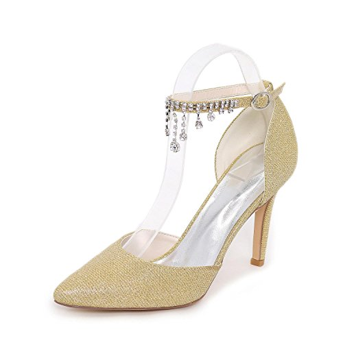 L@YC Frauen-Fersen Sommer-Komfort Synthetische Hochzeitsfest & Abendkleid Casual Stiletto High Heel Gold