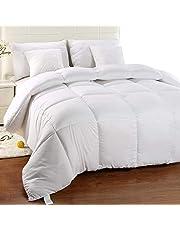Utopia Bedding Chaude Couette, Couette en Microfibre, hypoallergénique (Blanc, 220 x 240 cm)